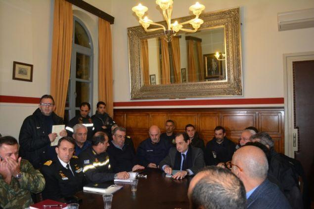 Από την σύσκεψη Σπίρτζη με φορείς της Κρήτης -Φωτογραφία: flashnews
