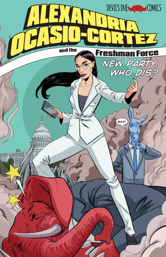 Το κόμικ θα τιτλοφορείται Alexandria Ocasio-Cortez and the Freshman Force και σύμφωνα με τον εκδότη είναι μια σάτιρα με στόχο την Ουάσινγκτον