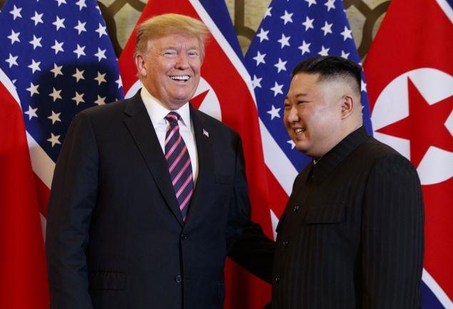 Στιγμιότυπο από τη συνάντηση των δύο ηγετών (Φωτο: AP/Evan Vucci)