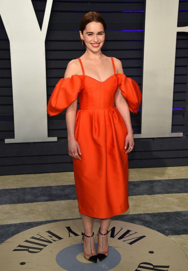 Η Εμίλια Κλαρκ με φόρεμα Rossie Assoulin