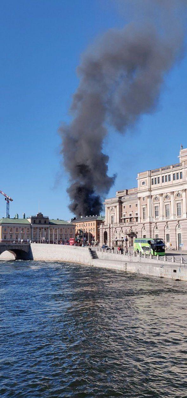 Η έκρηξη συνέβη σε σήραγγα στο κέντρο της σουηδικής πρωτεύουσας (Φωτογραφία: Twitter)