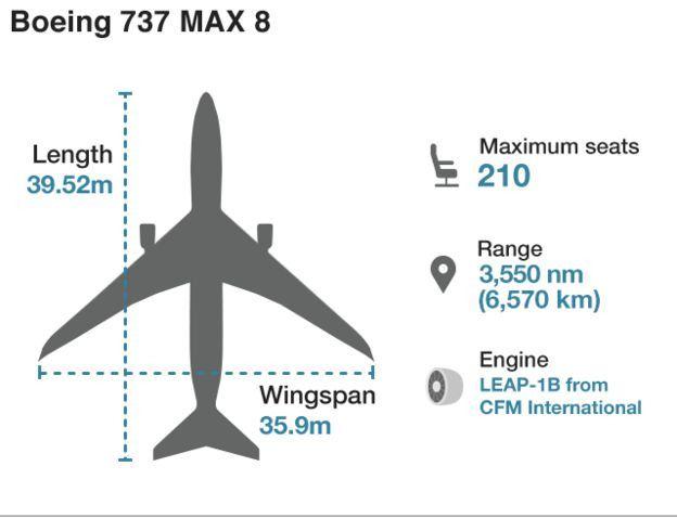 Τα χαρακτηριστικά στοιχεία του Boeing 737 Max-8