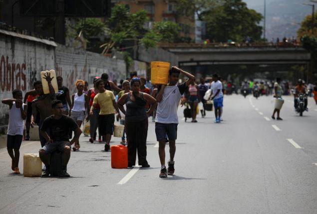 Το σύστημα υδροδότησης για τα 5,5 εκατομμύρια κατοίκους του Καράκας καταρρέει