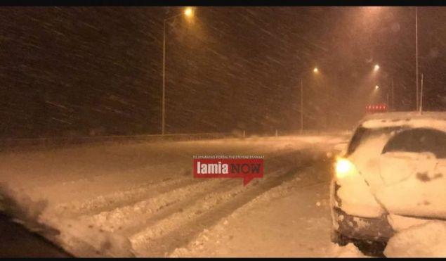 Σφοδρή χιονόπτωση έπληξε τη βόρεια Φθιώτιδα / Φωτογραφία: LamiaNow