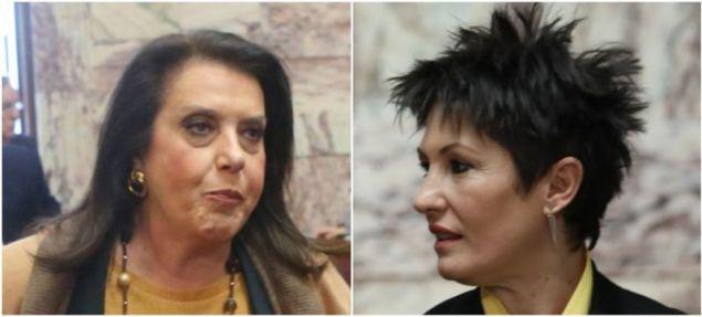 Η Θεοδώρα Μεγαλοοικονόμου (αριστερά) και η Αννέτα Καββαδία