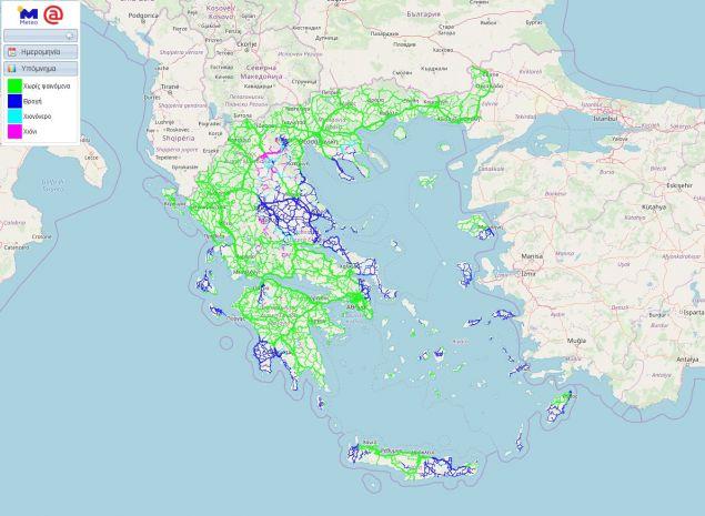 Οι καιρικές συνθήκες που θα επικρατήσουν στο οδικό δίκτυο της χώρας μας, τις πρωινές ώρες της Παρασκευής 15/03/2019, σύμφωνα με τη νέα υπηρεσίαROADSτουmeteo.gr.