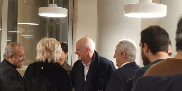 Ο Γιώργος Παπανδρέου  στην εκδήλωση στο ΚΠΙΣΝ με ομιλητή τον Εβο Μοράλες