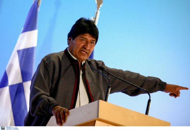 Ο Εβο Μοράλες στην εκδήλωση προς τιμήν του στο ΚΠΙΣΝ --Intimenews/ΤΖΑΜΑΡΟΣ ΠΑΝΑΓΙΩΤΗΣ