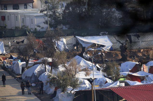 Το κέντρο φιλοξενίας προσφύγων στη Μόρια