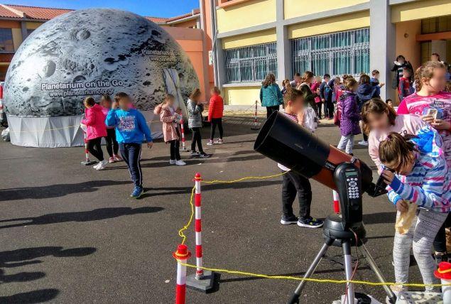 Το Φορητό Ψηφιακό Πλανητάριο θα εγκαθίσταται κάθε μέρα σε διαφορετικό μέρος στο νησί της Κέρκυρας