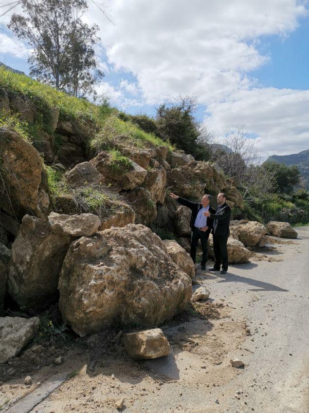 Αυτοψία στους τόπους που προκλήθηκαν μεγάλες καταστροφές από τις πλημμύρες του Φεβρουαρίου στα Χανιά, πραγματοποίησε ο Σταύρος Θεοδωράκης