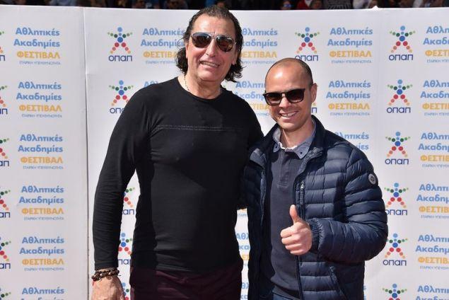 Τάσος Μητρόπουλος και ο Στέλιος Γιαννακόπουλος, πρώην διεθνείς ποδοσφαιριστές