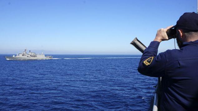 Η άσκηση του Ναυτικού έγινε στα ανοιχτά του Σαρωνικού- φωτογραφία Intimenews