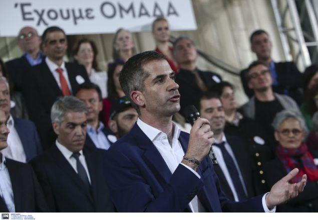 Ο Κώστας Μπακογιάννης παρουσίασε το ψηφοδέλτιο του «Αθήνα Ψηλά» -Φωτογραφία: Intimenews/ΤΖΑΜΑΡΟΣ ΠΑΝΑΓΙΩΤΗΣ