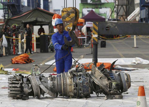 Κινητήρας του μοιραίου Boeing της Lion Air / Φωτογραφία: AP Images