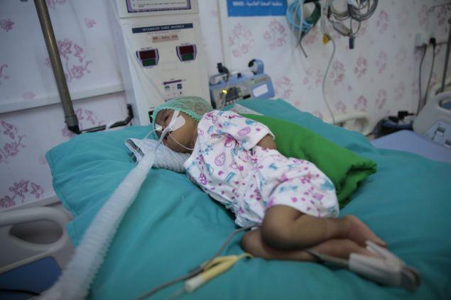 Παιδί σε νοσοκομείο στην Υεμένη