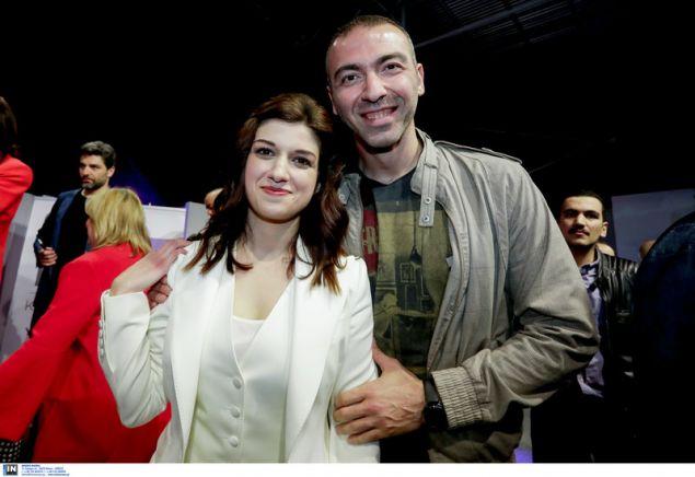 Ο Αλέξανδρος Νικολαΐδης με την Κατερίνα Νοτοπούλου / Φωτογραφία: InTime News