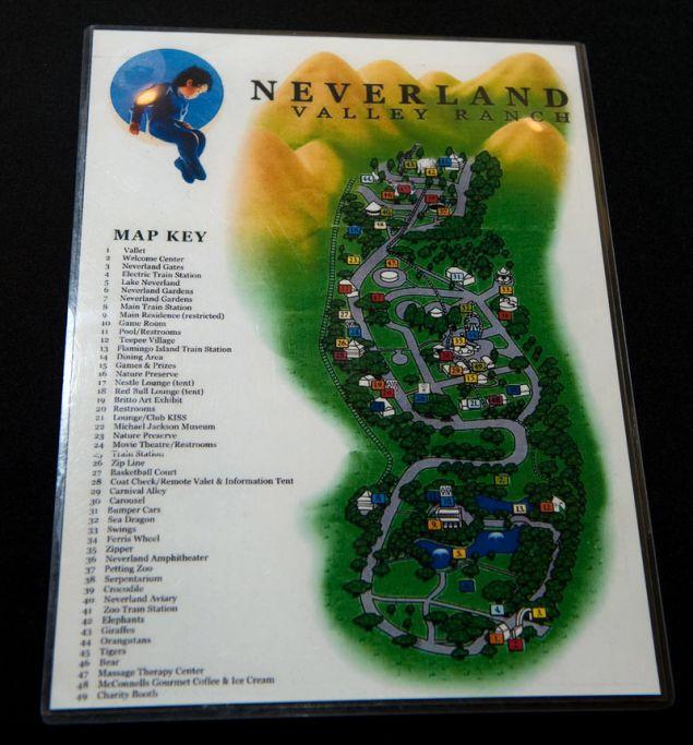 Χάρτης του Neverland Ranch (Φωτογραφία: ΑΡ)