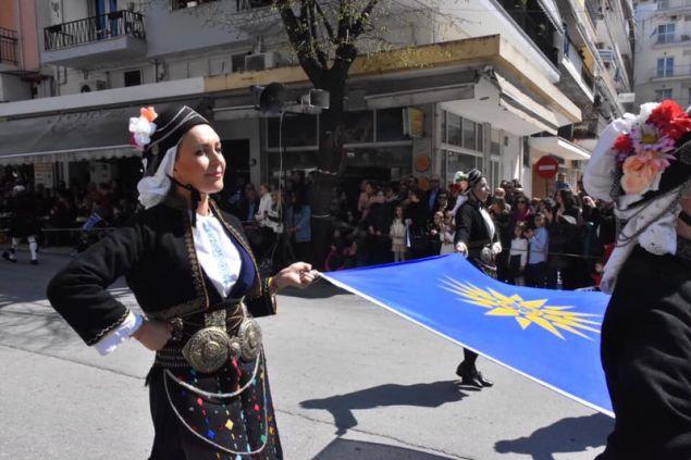 Η Φωτεινή Αραμπατζή έκανε παρέλαση με το Λύκειο Ελληνίδων Σερρών