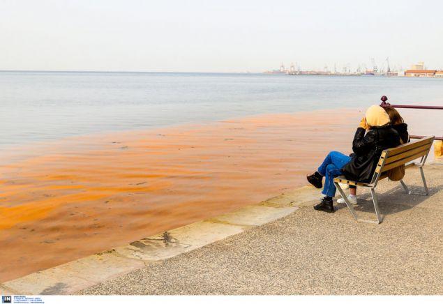 «Κοκκίνισε» για μια ακόμη φορά η θάλασσα στη Θεσσαλονίκη