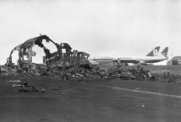 Καμμένο τμήμα από την άτρακτο του Boeing της Pan Am