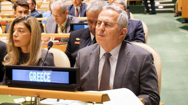 Ο υπ. Αμυνας Ευ. Αποστολάκης στην σύνοδο του ΟΗΕ (EUROKINISSI/ΥΕΘΑ)