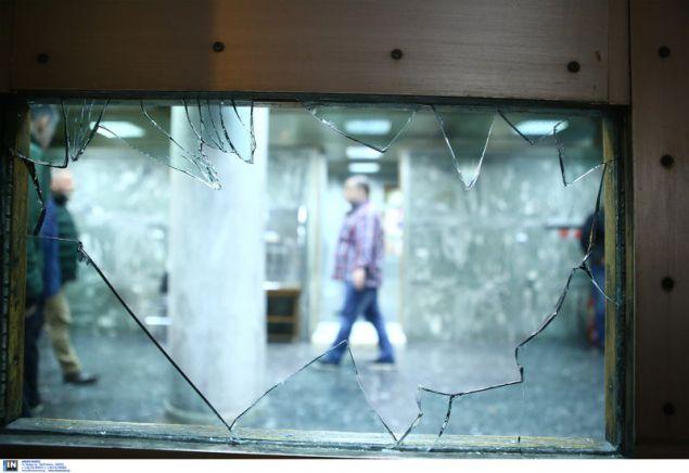 Σπασμένα τζάμια στο κτίριο της ΔΕΔΔΗΕ από τον Ρουβίκωνα -Intimenews/ΣΤΕΦΑΝΟΥ ΣΤΕΛΙΟΣ