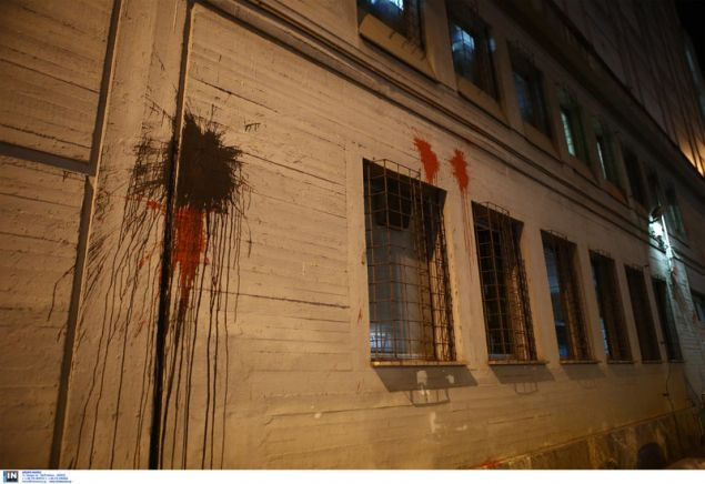 Μπογιές στο κτίριο της ΔΕΔΔΗΕ από τον Ρουβίκωνα -Intimenews/ΣΤΕΦΑΝΟΥ ΣΤΕΛΙΟΣ