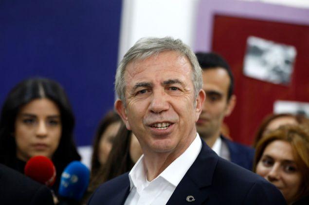 Ο υποψήφιος δήμαρχος Αγκυρας Μανσούρ Γιαβάς -Φωτογραφία: AP Photo/Burhan Ozbilici