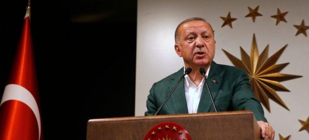 Ο Ερντογάν στη συνέντευξη Τύπου στην Κωνσταντινούπολη, το βράδυ των δημοτικών εκλογών-AP Photo/Lefteris Pitarakis  Πηγή: Δημοτικές εκλογές στην Τουρκία: Ο Ερντογάν παραδέχθηκε ότι «έχασε ορισμένες πόλεις» | iefimerida.gr