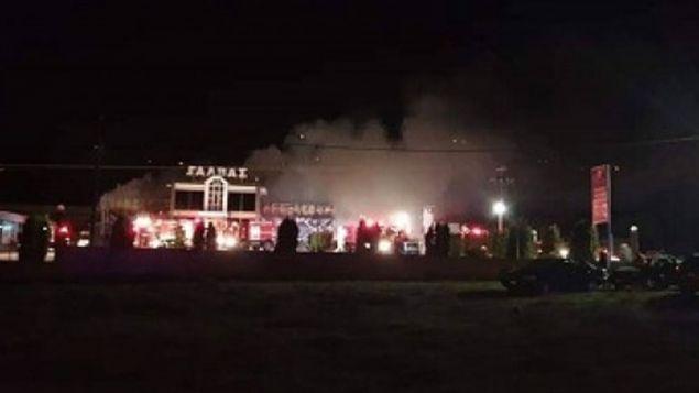 Φωτιά σε εργοστάσιο ζαχαροπλαστικής στο Σιδηρόκαστρο Σερρών -Φωτογραφία: infonews24.gr