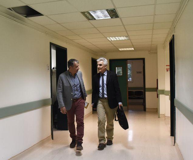 Με τον Παναγιώτη Γκανά στο νοσοκομείο του Ναυπλίου «Άνθρωπος με γνώση και όραμα»