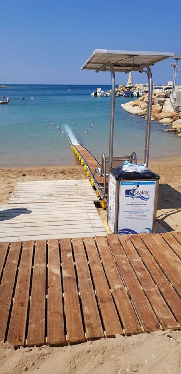 Η ειδική ράμπα για την πρόσβαση στο νερό / Φωτογραφία: Facebook
