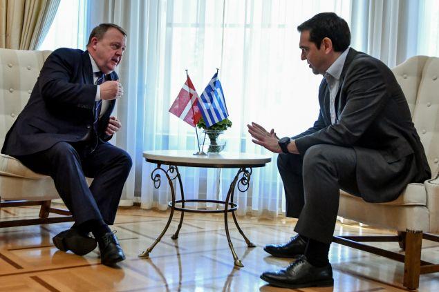 Συνάντηση του Αλέξη Τσίπρα με τον Δανό ομόλο του (EUROKINISSI/ ΤΑΤΙΑΝΑ ΜΠΟΛΑΡΗ)