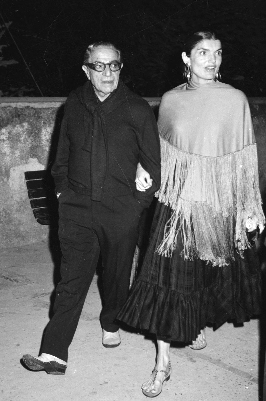 Αριστοτέλης και Τζάκι στο Κάπρι / Φωτογραφία: AP