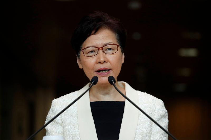 Η εκλεκτή του Πεκίνου, επικεφαλής της κυβέρνησης του Χονγκ Κονγκ, Κάρι Λαμ.