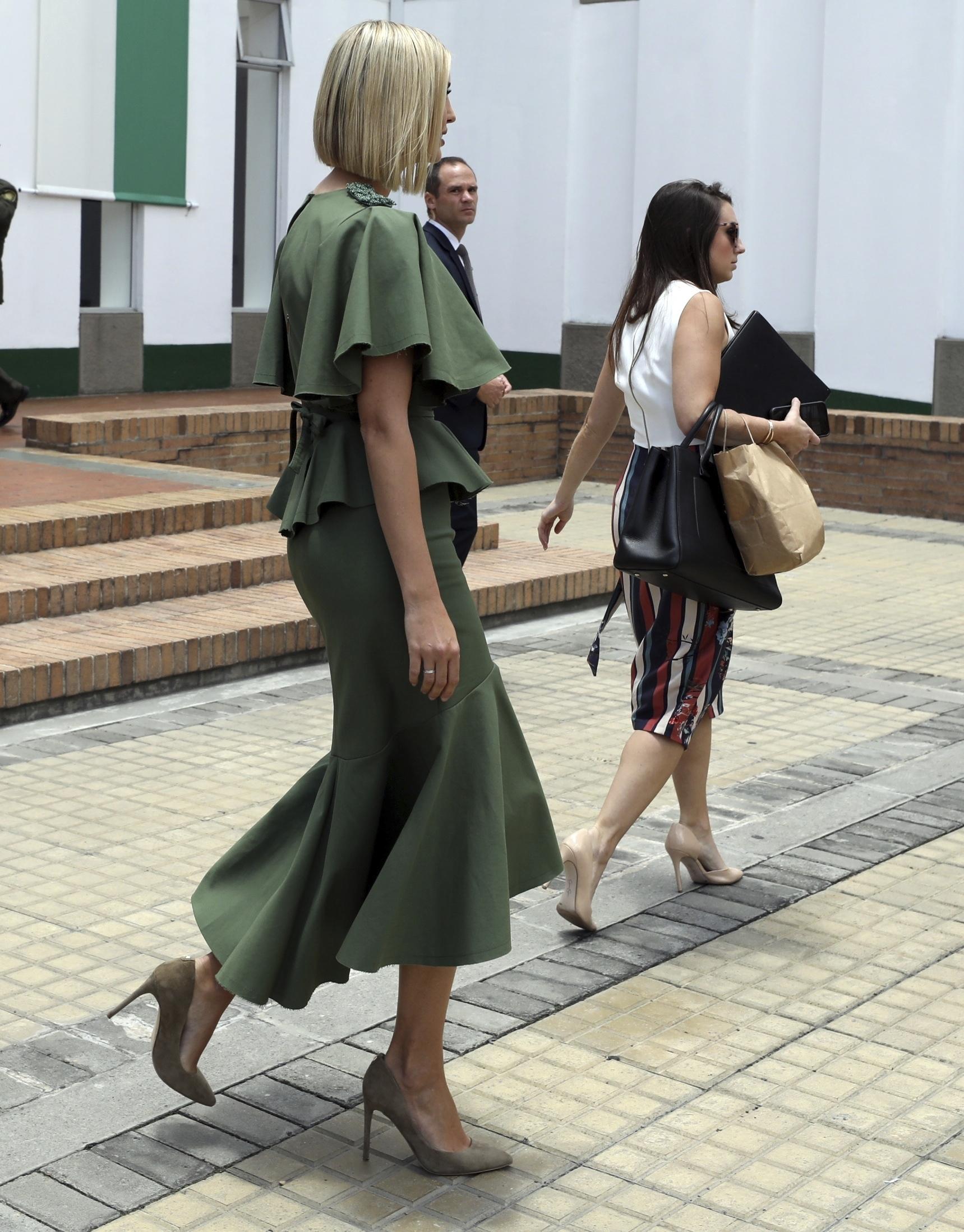 Η Ιβάνκα Τραμπ με το περιβόητο πράσινο φόρεμα