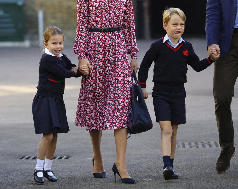 πριγκίπισσα Σάρλοτ πρίγκιπας Τζορτζ πρώτη ημέρα στο σχολείο 2019