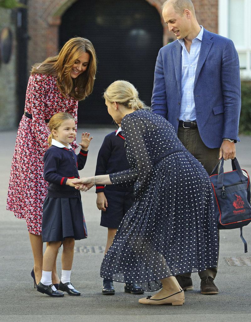 πριγκίπισσα Σάρλοτ με την δασκάλα της πρώτη ημέρα στο σχολείο 2019