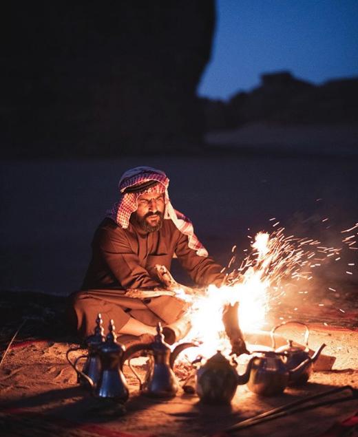 Βεδουίνος στη έρημο της Σαουδικής Αραβίας