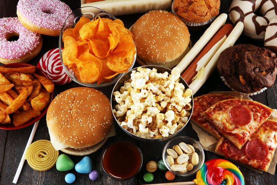 bigstock Unhealthy Products Food Bad F 256992898